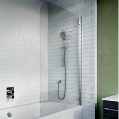 Bath Shower Screens, Crosswater, Kai 6 Single Hinged Panel Bath Screen 650mm Shower Fittings, Bath Screens, Sliding Shower Door, Easy Cleaning, Bathroom Layout, Bathroom Space, Bathroom Essentials, Hinges, Corner Basin