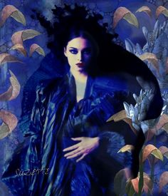 Belle in Blue  photo by Maurizio Galante@Lilliroze - Suzette Jelinek @Bazaart