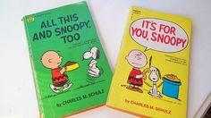Vintage 70's Charles Schulz Books Peanuts Children's