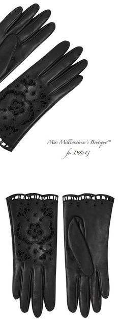 D&G Fall 2015 Black Embellished Nappa Leather Gloves for Fall 2015  Miss Millionairess's Boutique™