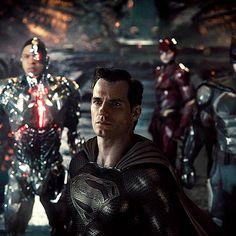 Superman Gif, Black Superman, Zack Snyder Justice League, Justice League 2017, Dc Movies, Series Movies, Superman Pictures, Vertigo Comics, Dc Characters
