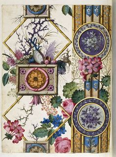 * English Design for a printed cotton for furnishing by William Kilburn ca. ) painted in watercolour on paper Kilburn, William, born 1745 - died 1818 (designer) Motifs Textiles, Vintage Textiles, Textile Patterns, Textile Prints, Textile Design, Art Prints, Pattern Design, Print Design, Morris
