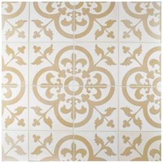 Bring a magical design to your home by choosing this Merola Tile Cemento Empress Beach Cement Handmade Floor and Wall Tile. Kitchen Floor Tile Patterns, Bathroom Floor Tiles, Floor Patterns, Wall Tiles, Tile Floor, Downstairs Bathroom, Tile Art, Kitchen Tiles, Master Bathroom