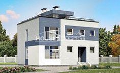 180-005-П Проект двухэтажного дома, просторный домик из твинблока