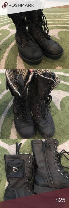 Roxy Black Combat Boots black combat lace up boots Roxy Shoes Lace Up Boots