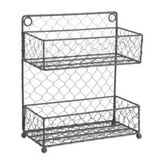Great for 2 Row Chicken Wire Wide Spice Rack by Rebrilliant storage-sale from top store Spice Rack Rustic, Spice Organization, Makeup Organization, Bathroom Organization, Bathroom Storage, Small Bathroom, Bath Bombs Scents, Pantry Storage, Storage Containers