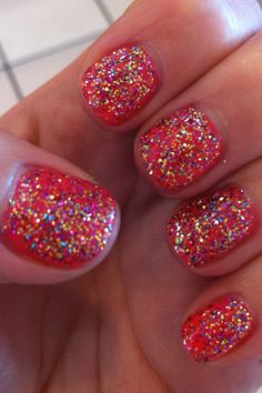 CND Shellac Tropix with amazing glitter sparkles!