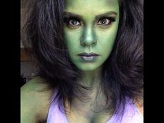 Marvel's She-Hulk Transformation/ NYX Face Awards Entry - 2019 Halloween Kids, Halloween Makeup, Halloween Costumes, Halloween Sweets, Halloween 2020, She Hulk Costume, She Hulk Cosplay, Comic Con Costumes, Cosplay Costumes