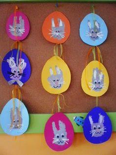 Coelhinhos Com a Impressão das Mãos - Blog Cantinho Alternativo