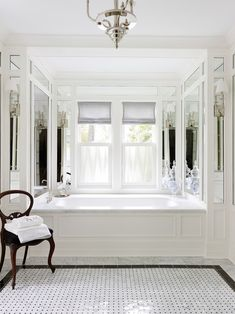 black & white basket weave tile floor :: Morgante Wilson Architects