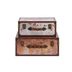 World map suitcase clock home furniture pinterest suitcase 2 piece trunk set vintage reflections wooden polyurethane cases these classic style rectangular luggage are gumiabroncs Choice Image