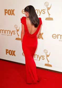 Lea Michelle - in nice backless gown