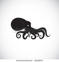 Vector image of an octopus on white background. Octopus Drawing, Octopus Tattoo Design, Octopus Tattoos, Cute Octopus, Octopus Art, Kraken, Squid Tattoo, Bathroom Mural, Guitar Inlay