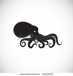 Vector image of an octopus on white background, Octopus Logo, Octopus Tattoo, Octopus Icon, Octopus Design, Vector octopus for your design.