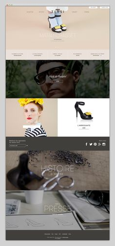 Prêt-à-porter . web design . layout inspiration . classy style . high-end . elegant . photographic . apparel . Tersi . UI