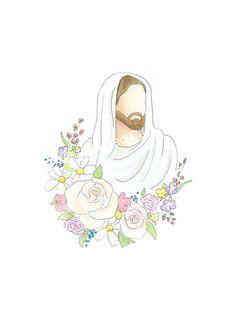 Christian Drawings, Christian Art, Christian Easter, Jesus Christ Painting, Jesus Art, God Jesus, Lds Art, Bible Art, Easter Drawings