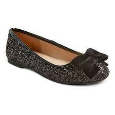 Girls' Laurelle Glitter Ballet Flats Cat & Jack™ - Black : Target