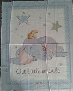 Disney Dumbo the Elephant Our Little Miracle Quilt Fabric Cot ... : cot quilt panels - Adamdwight.com