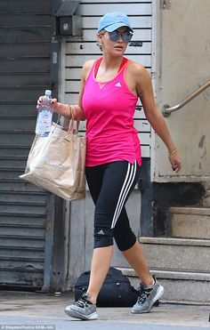Laid-back: On Thursday, Rita Ora decided on a very casual, dressed down look for a visit to the gym in NYC