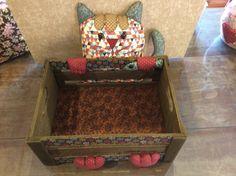 Caixa de gato patchwork