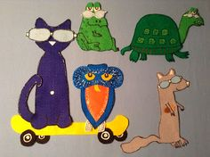 Library Village: Flannel Friday - Pete the Cat and His Magic Sunglasses flannel play