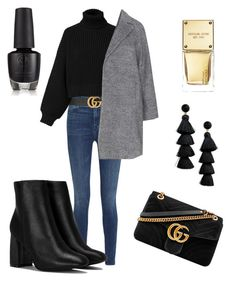 """Untitled #8"" by emmy-calmius on Polyvore featuring J Brand, Gucci, Diesel, Nasty Gal, Michael Kors and BaubleBar"