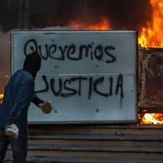 """Ya me cansé >>> """"Enough, I am fed up"""" Angry demonstrators torched government buildings in Guerrero and Mexico City after officials announced that the 43 missing students were likely killed and burned in a mass grave."""