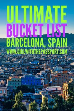 What to see and do when you visit or travel to Barcelona, Spain.