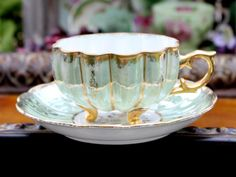 Royal Sealy Tea Cup Teacup and Saucer  by TheVintageTeacup on Etsy