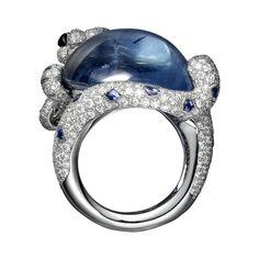 CARTIER. #Cartier #L'OdyséeDeCartierParcoursD'unStyle #2013 #HauteJoaillerie #HighJewellery #FineJewelry #Sapphire #Emerald #Onyx #Diamond