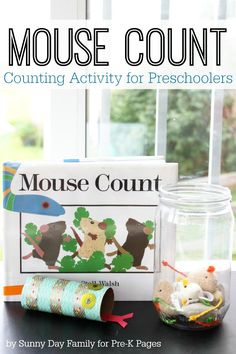 Mouse Counts: Counting Game for Preschool. Teach number sense with this fun, hands-on activity inspired by the popular children's book Mouse Counts! Make learning FUN!