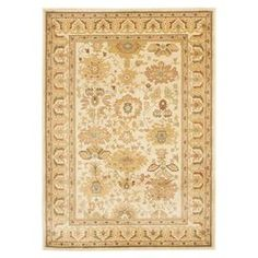 """Rug with a Persian-inspired motif. Made in Turkey.  Product: RugConstruction Material: PolypropyleneColor: CremeFeatures:  Made in Turkey0.25"""" Pile height Dimensions: 4' x 5'7"""" Note: Please be aware that actual colors may vary from those shown on your screen. Accent rugs may also not show the entire pattern that the corresponding area rugs have.Cleaning and Care: Professional cleaning recommended"""