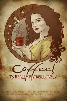Coffee! It's really rather lovely. Like a cuddle from a kitten whilst sitting in front of a roaring log fire on a cold winter night. Or not. It's up to you, really. #coffee