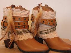 Reworked leather cowboy boots by rougepony on Etsy, £110.00