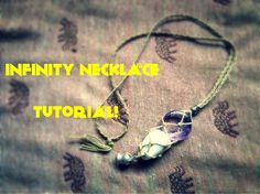 how to Macramé tutorial - interchangeable / swap stone necklace (infinit...