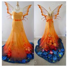 I am itching to see in this gown and wing set I made. Also sorry for the lopsided wings they moved when I turned her… Pretty Outfits, Pretty Dresses, Beautiful Outfits, Awesome Dresses, Fantasy Costumes, Cosplay Costumes, Fairy Mermaid, Fantasy Gowns, Fantasy Clothes
