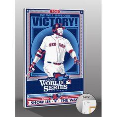 "Boston Red Sox David Ortiz 26"" x 20"" 2013 World Series Sports Propaganda Player Canvas Print, Your Price: $79.99"