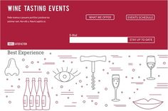 Wine industry Web landing page  by Sunshine Art Shop on @creativemarket