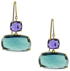 Marco Bicego Murano Amethyst & London Blue Topaz Earrings