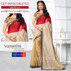 Get invigorated with the ever youthful and graceful sarees only with Vastreeni creations.  An Exclusive #Designer label by Saptrangi Sarees  www.saptrangi.com | info@saptrangi.com | +91 95740 17666 #FashionAtVastreeni #TrendingFashion #FashionWithSaptrangi