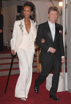There are 2 fashion icons in our house! I owe mine to this Stella McCartney custom-made tuxedo and matching vest, worn with vintage Fred Leighton and a traditional walking stick - the epitome of Ageless Chic at the Met Ball Gala.