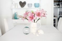 Extend life of fresh flowers............Put 2 tablespoons of lemon juice or the bottled lemon juice you keep in the fridge,  1 tablespoon of sugar, and 1/4 teaspoon of bleach in warm water in your vase and add another 1/4 teaspoon of bleach to the vase every 4 days or so..