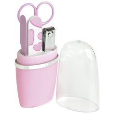 Ladies Manicure Set. Available in pink and blue
