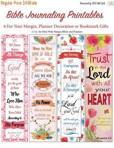 bible journal bookmark margin strips
