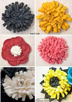 Rhonna DESIGNS: Felt Flowers
