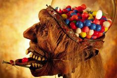 Scary Zombie Head Gumball Dispenser