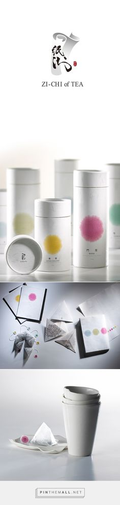 Graphic design and packaging for ZI-CHI of TEA on Behance by ANGLE visual integration Kaohsiung, Taiwan curated by Packaging Diva PD. Design of herbal tea, using the Curl paper and ink image, packaging and porcelain design Cool Packaging, Tea Packaging, Packaging Design, Tea Logo, Logo Design, Graphic Design, Infused Water, Herbal Tea, Kombucha