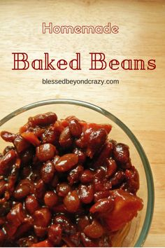 Homemade Baked Beans--You're going to want to pin this recipe for later when you have leftover Christmas Ham overloading your fridge. These beans are delicious with leftover ham! Plus they are made in the crock pot!