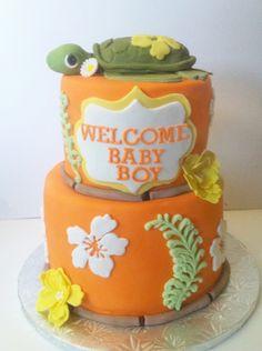 Hawaiian baby shower cake by Sweet Treatz Cake Pops