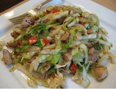 simply recipes: CHICKEN CABBAGE STIR FRY
